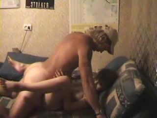 Hot dude feeds amateur bitch with his cock in...
