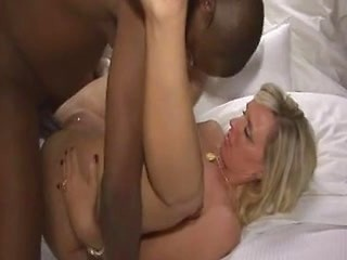 Milf meets a black guy in his hotel room for...