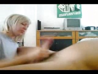 Horny amateur wife sucking and mastrubate dick